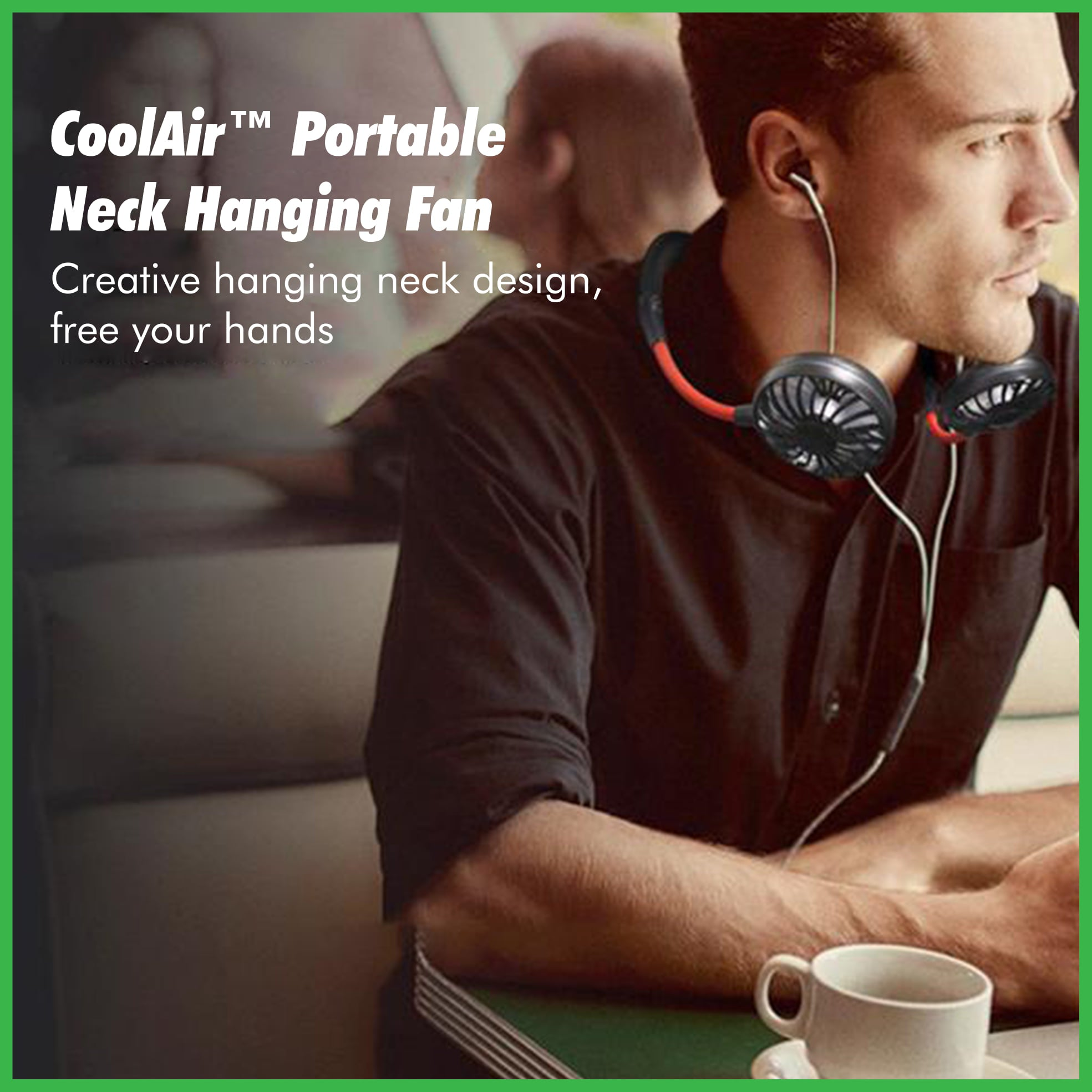 CoolAir™ Portable Neck Hanging Fan