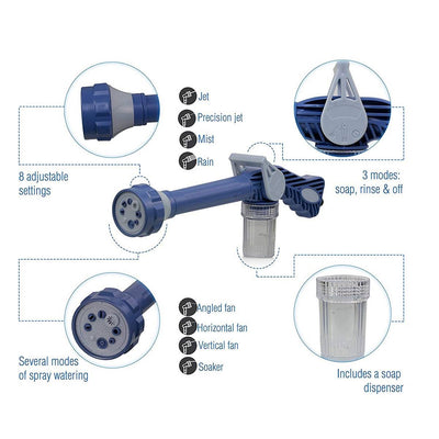 Water Spray Cannon Gun