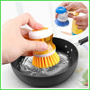 Dish Cleaning Brush with Soap Dispenser