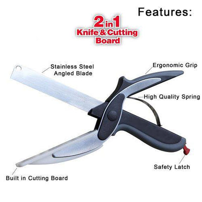 2 in 1 Scissor Knife