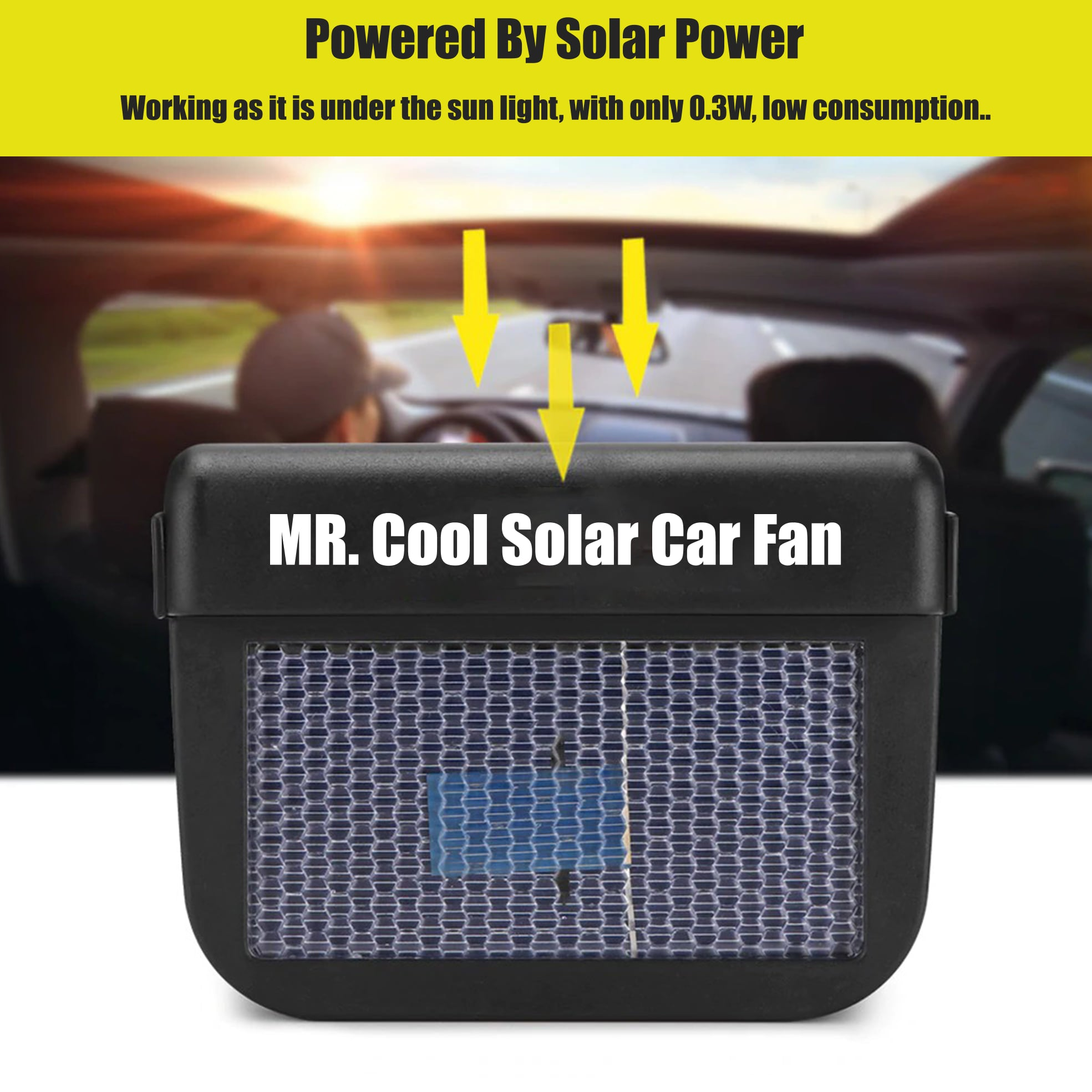 Mr. Cool Solar Car Fan