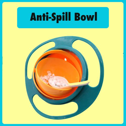 Colorful Anti Spill Bowl