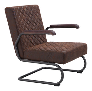 Father Lounge Chair Vintage Brown - Living