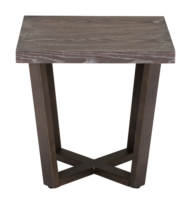 Brooklyn Side Table Gray Oak & A.Brass - Living