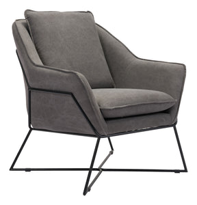 Lincoln Lounge Chair Gray - Living