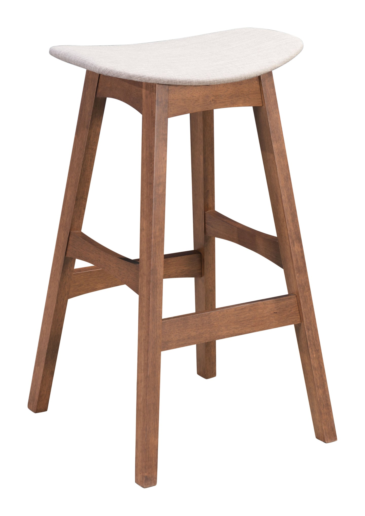 Allen Barstool Dove Gray & Walnut - Bar