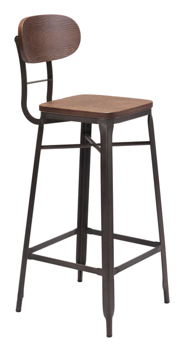 Broadway Bar Chair Brown & Antique Blk - Bar