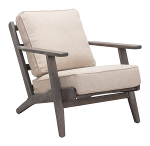 Tahoe Lounge Chair Beige & Dark Brown - Living
