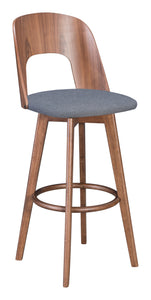 Anton Barstool Walnut & Dark Gray - Bar