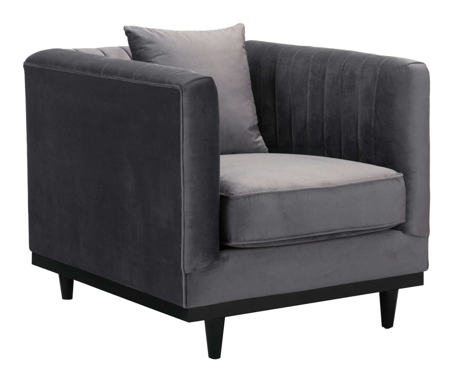Garland Arm Chair Gray Velvet - Living