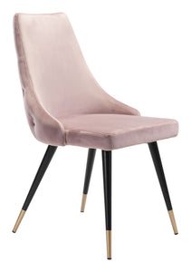 Piccolo Dining Chair Pink Velvet - Dining