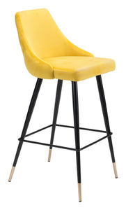 Piccolo Bar Chair Yellow Velvet - Bar