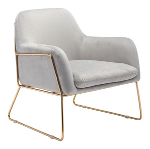 Nadir Arm Chair Gray Velvet - Living