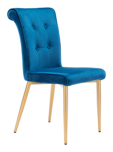 Niles Dining Chair Blue Velvet - Dining