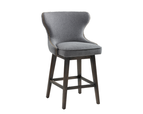 ARIANA SWIVEL COUNTER STOOL - DARK GREY