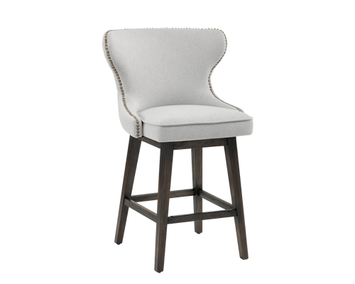 ARIANA SWIVEL COUNTER STOOL - LIGHT GREY