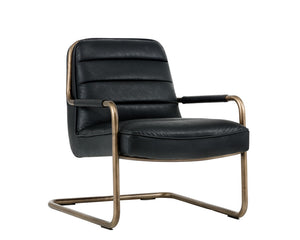 LINCOLN LOUNGE CHAIR - VINTAGE BLACK - Occasional Chairs