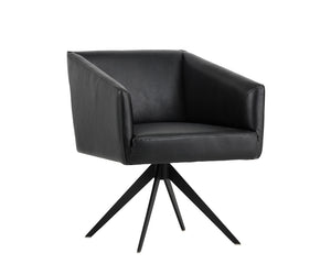 PHOENIX SWIVEL DINING CHAIR - COAL BLACK - Dining Chairs
