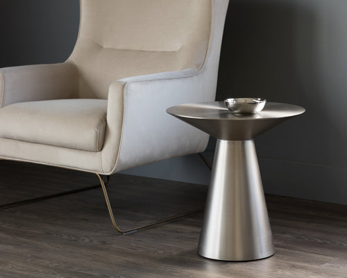 CARMEL SIDE TABLE - STAINLESS STEEL