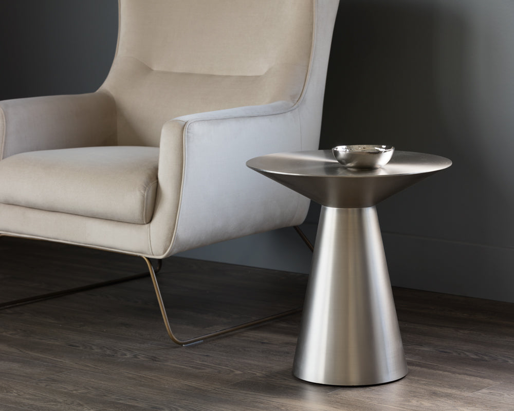 CARMEL SIDE TABLE - STAINLESS STEEL - End Tables