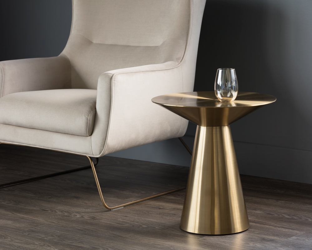 CARMEL SIDE TABLE - YELLOW GOLD - End Tables