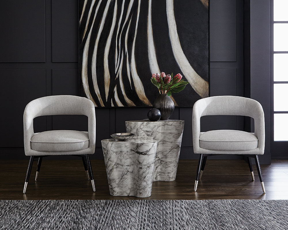 BAILY DINING CHAIR - HEMINGWAY MARBLE - Dining Chairs