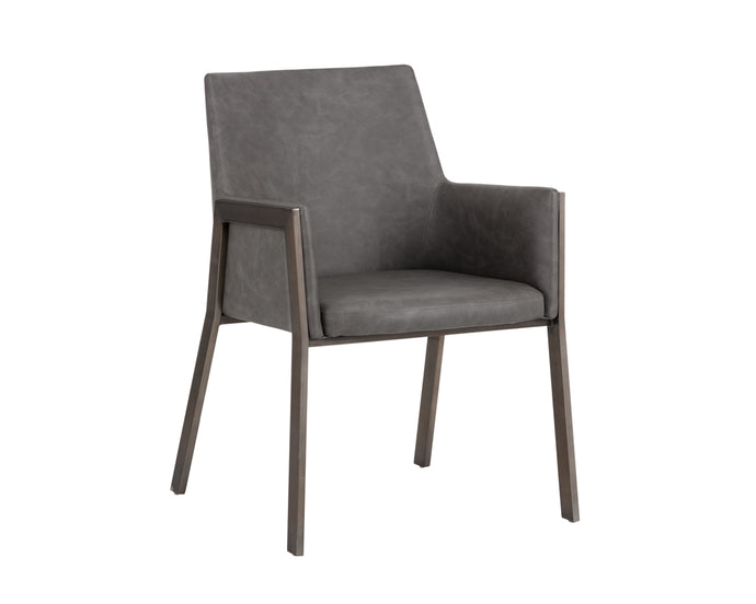 BERNADETTE ARMCHAIR - KENDALL GREY - Dining Chairs