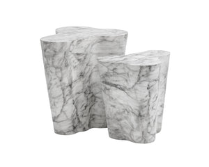 AVA END TABLE - SMALL - MARBLE LOOK - End Tables