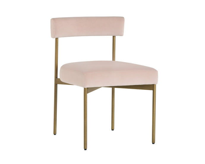 SENECA DINING CHAIR - VELVET BLUSH - Dining Chairs