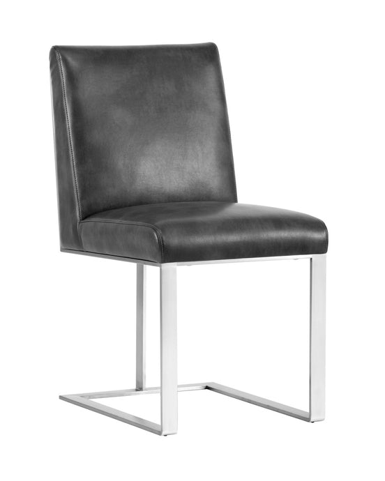 DEAN DINING CHAIR - STAINLESS STEEL - NOBILITY GREY - Dining