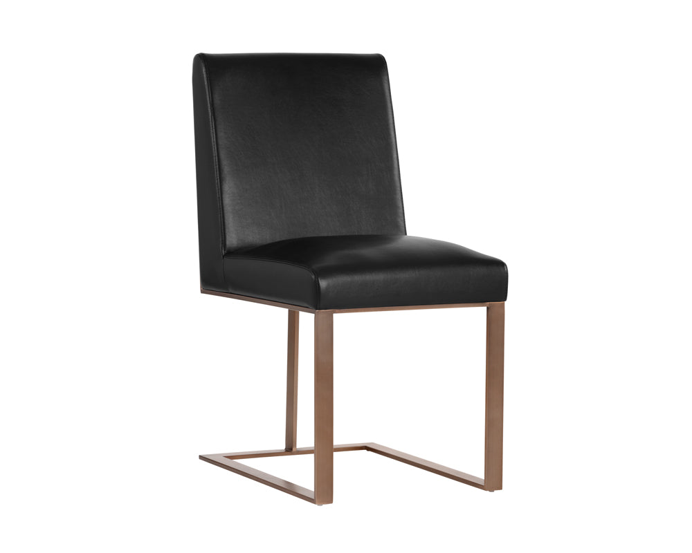 DEAN DINING CHAIR - ANTIQUE BRASS - NOBILITY BLACK - Dining