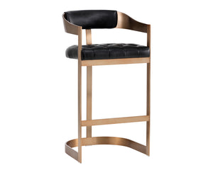 BEAUMONT BARSTOOL - ANTIQUE BRASS - NOBILITY BLACK -