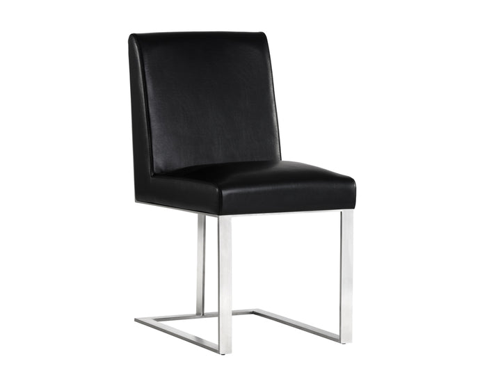 DEAN DINING CHAIR - STAINLESS STEEL - NOBILITY BLACK -
