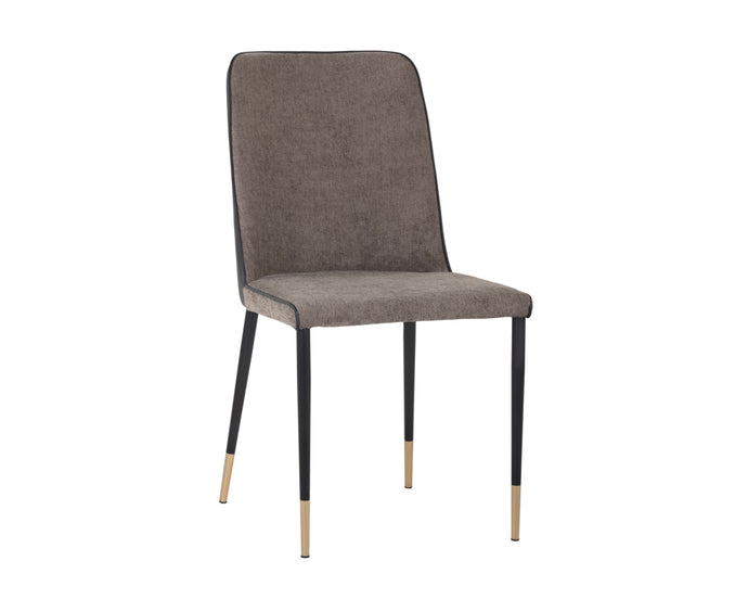 KLAUS DINING CHAIR - SPARROW GREY / NAPA BLACK - Dining