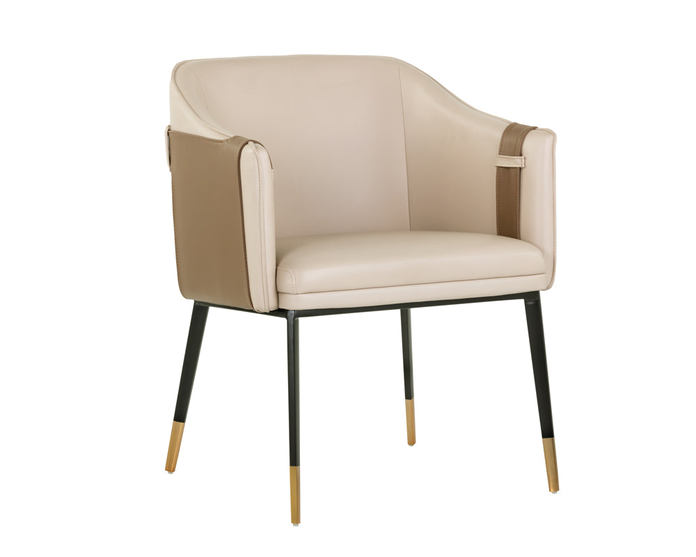 CARTER ARMCHAIR - NAPA BEIGE / NAPA TAN - Dining Chairs