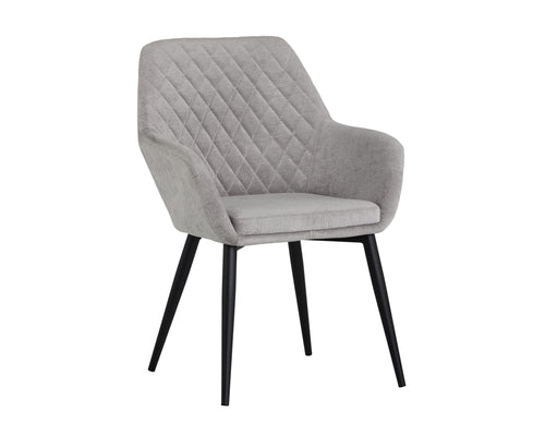 JAYNA DINING CHAIR - BLACK - POLO CLUB STONE