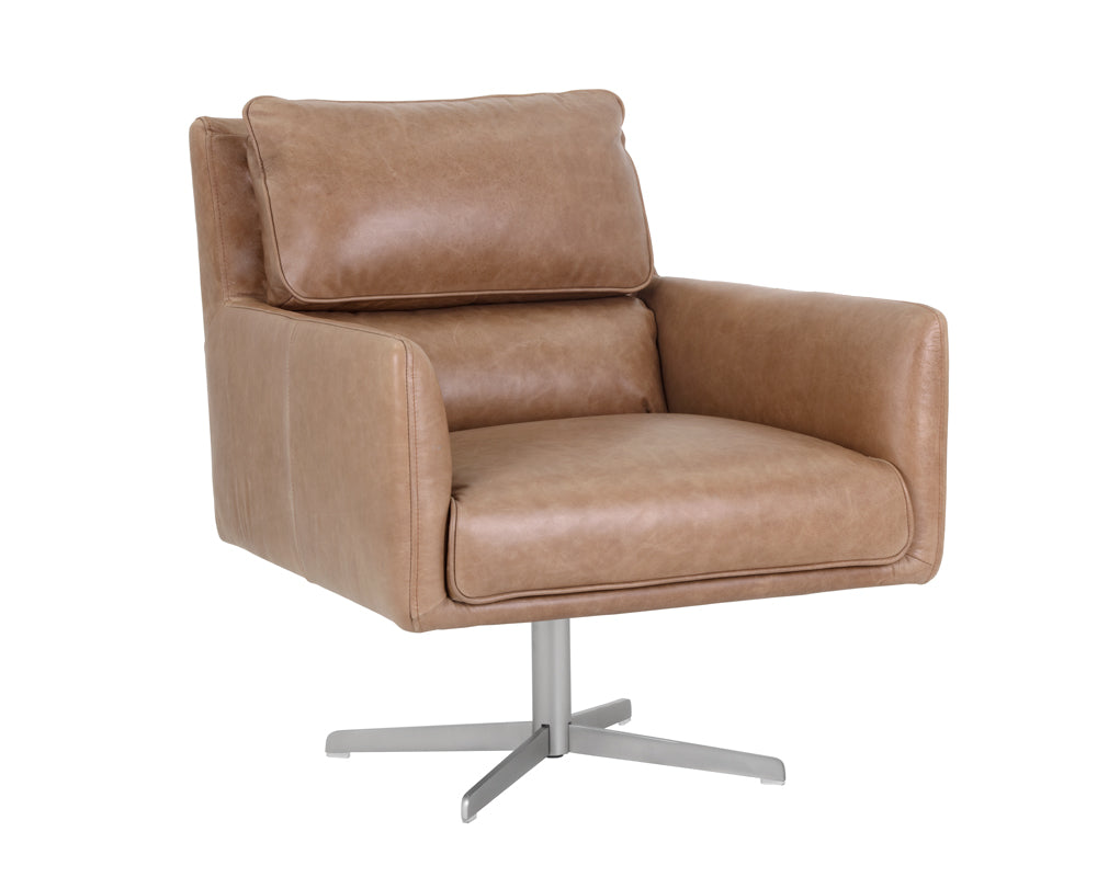 EASTON SWIVEL CHAIR - MARSEILLE CAMEL - Occasional Chairs