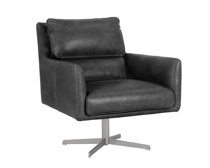 EASTON SWIVEL CHAIR - MARSEILLE BLACK - Occasional Chairs