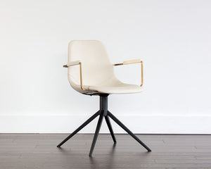 Cassius Swivel Armchair - Dillon Cream