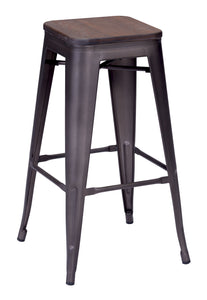 Marius Barstool Rustic Wood - Bar