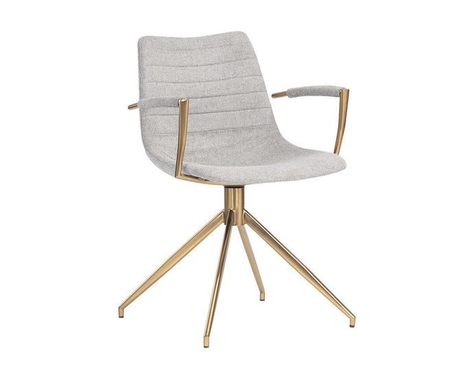 Andres Swivel Armchair - Belfast Heather Grey