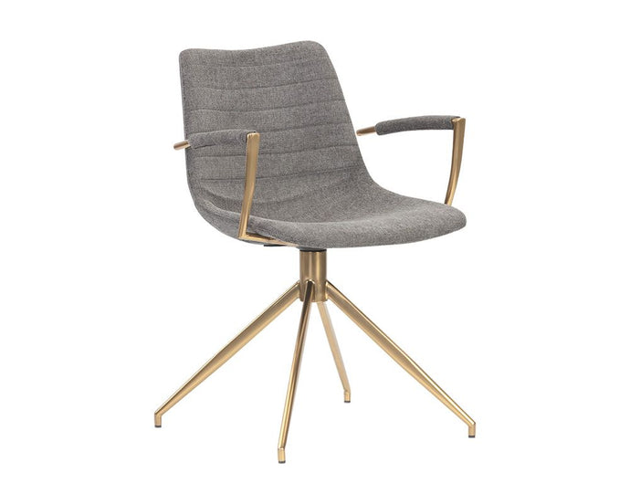 Andres Swivel Dining Armchair - Belfast Koala Grey