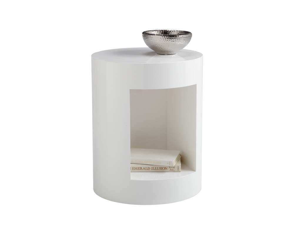 BEACON END TABLE - HIGH GLOSS WHITE - End Tables
