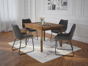 Benito Dining Table with Extension in Walnut