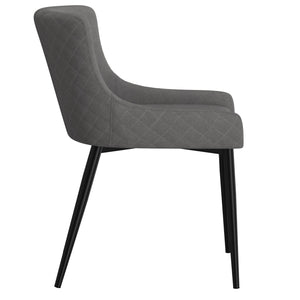Bianca Side Chair set of 2 in Grey with Black Leg Price