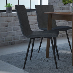 Nora Side Chair set of 4 in Blue-Grey with Black Leg Price