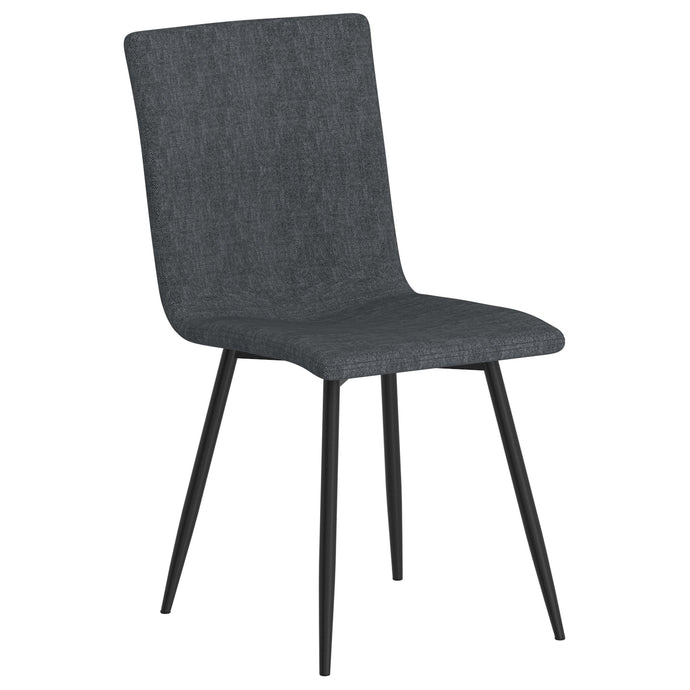 Nora Side Chair, set of 4 in Blue-Grey with Black Leg Price shown for each - Min Order  4PK