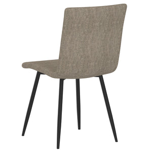 Nora Side Chair set of 4 in Grey with Black Leg Price shown