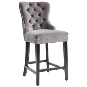 RIZZO-26'' COUNTER STOOL-GREY Price shown for each - Min