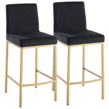 DIEGO-26 COUNTER STOOL-BLACK/GOLD LEG Price shown for each -